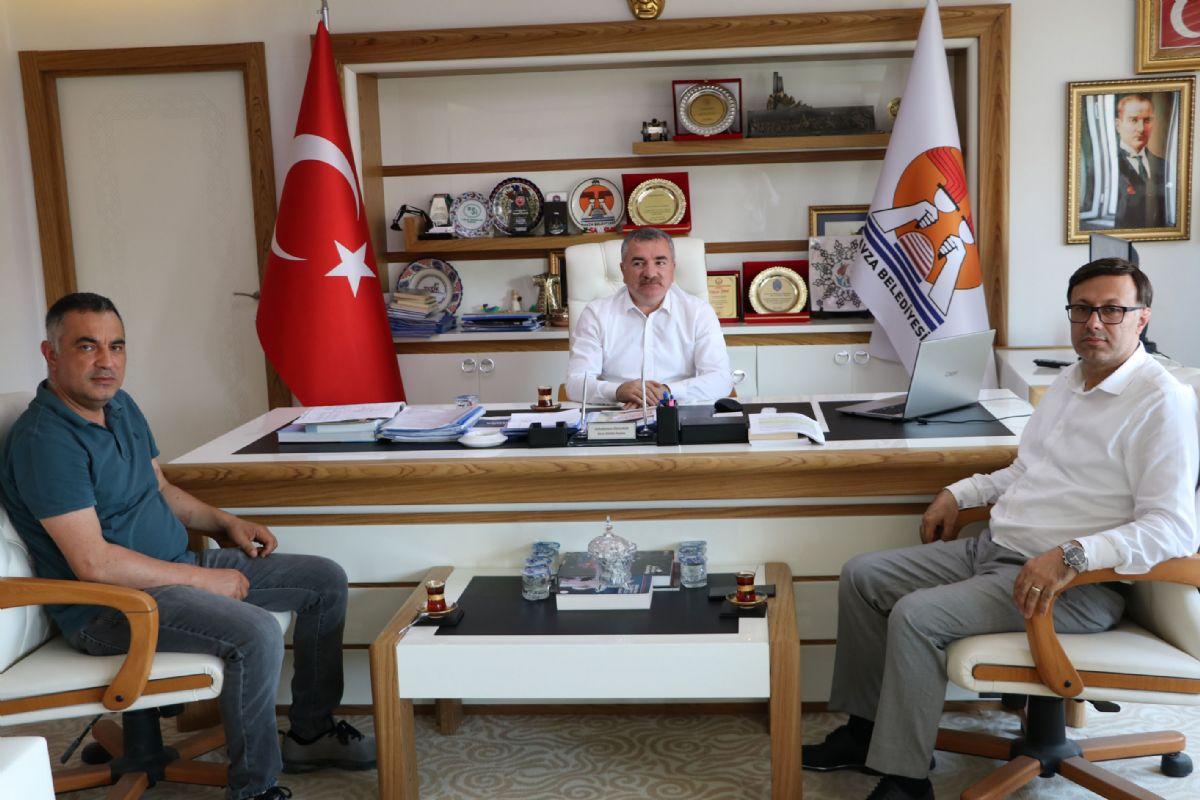 Arkoz Gazbeton Genel Müdürü Çelik'ten Başkan Özdemir'e Ziyaret