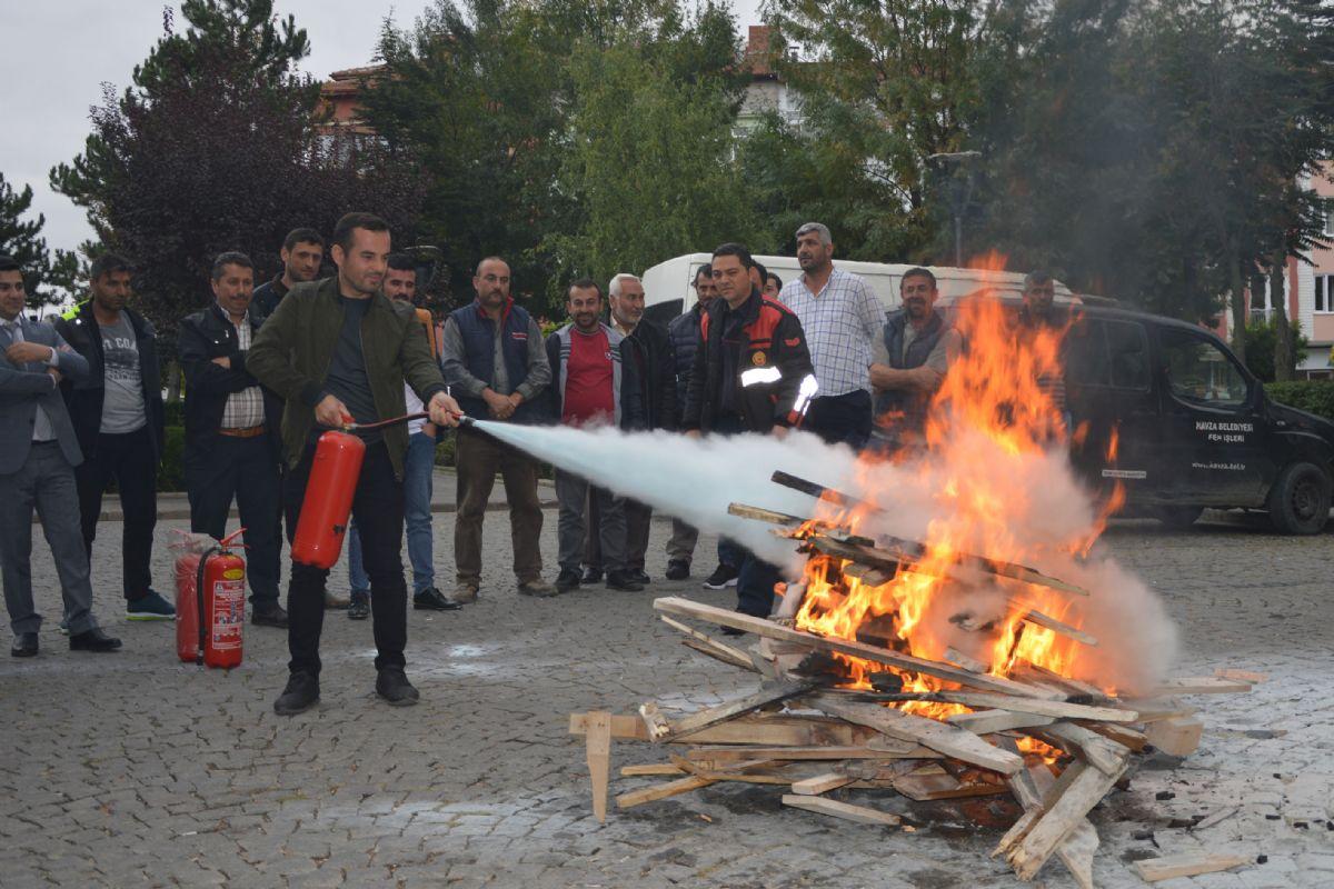 Havza Belediyesinde Yangın Tatbikatı
