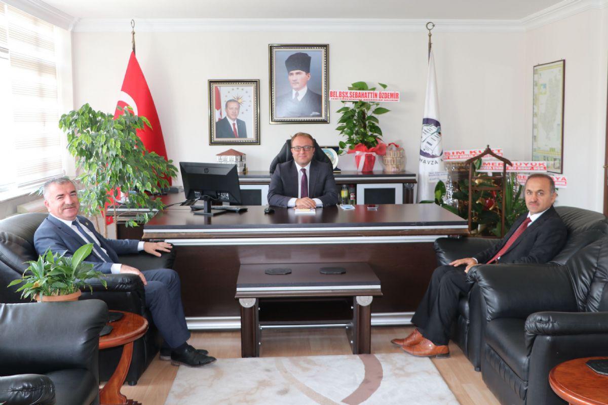 Havza Belediye Başkanı Özdemir'den Kaymakam Nayman'a Hayırlı Olsun Ziyareti