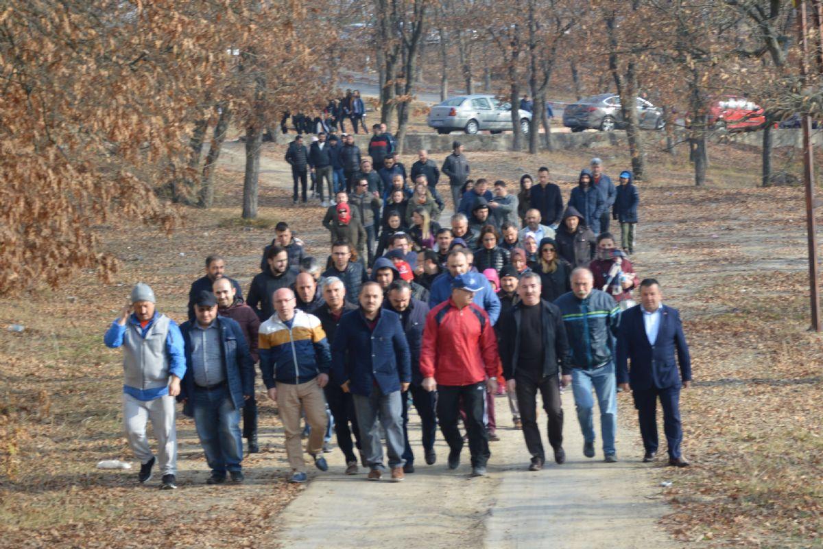 Havza'da Öğretmenler Doğa Yürüyüşü Yaptı