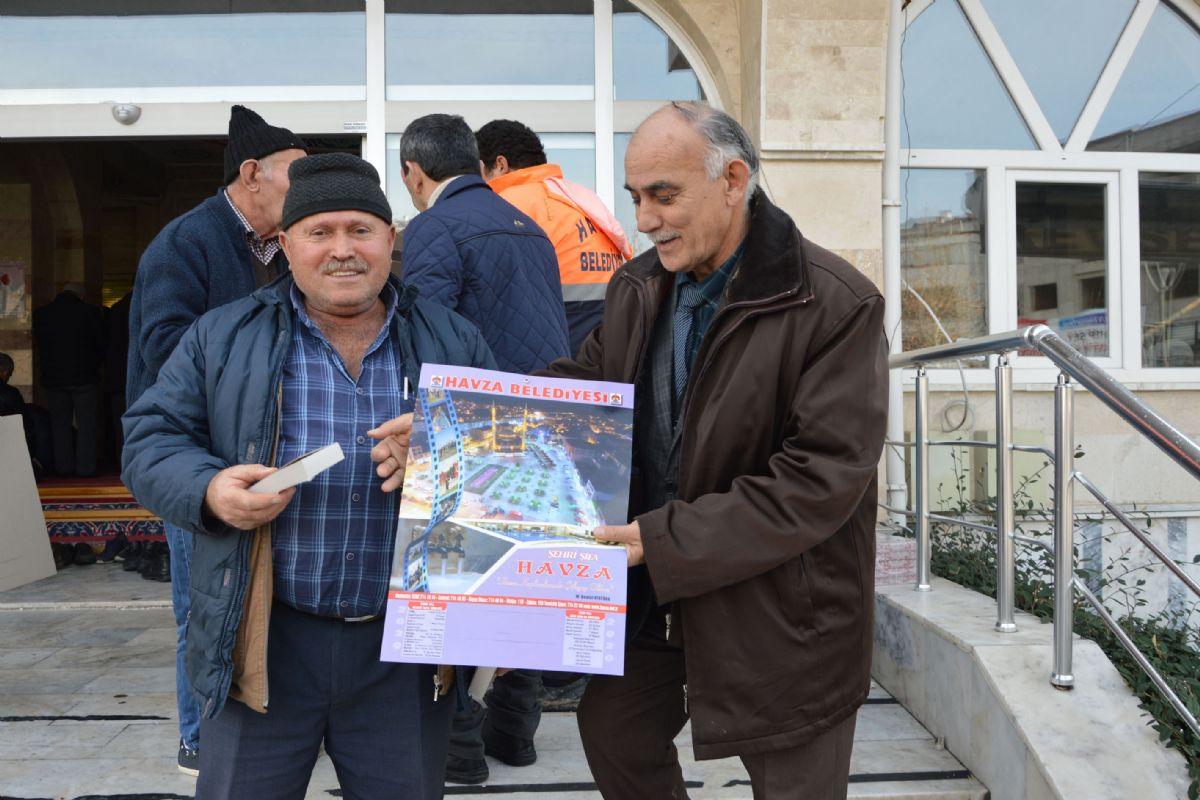 Havza Belediyesi Yeni Yıl Takvimi Dağıttı