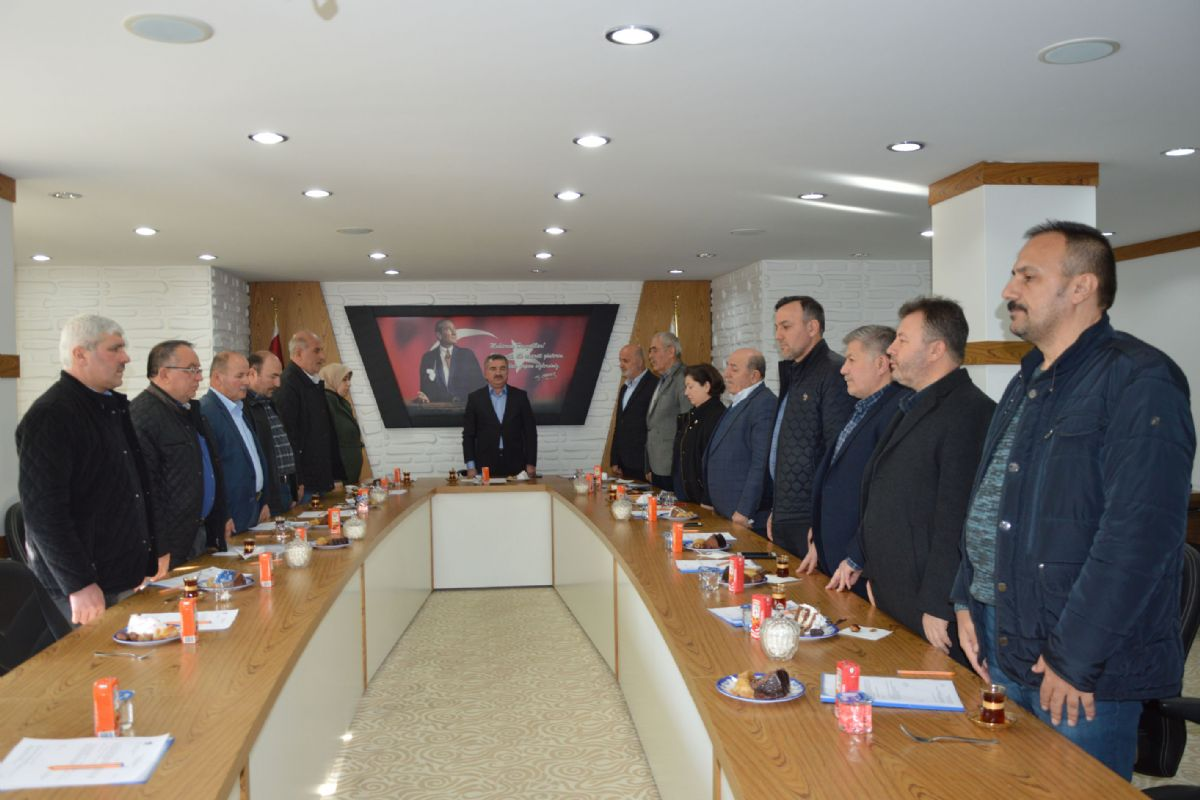 Havza Belediyesi Meclisinde Şehitler Unutulmadı