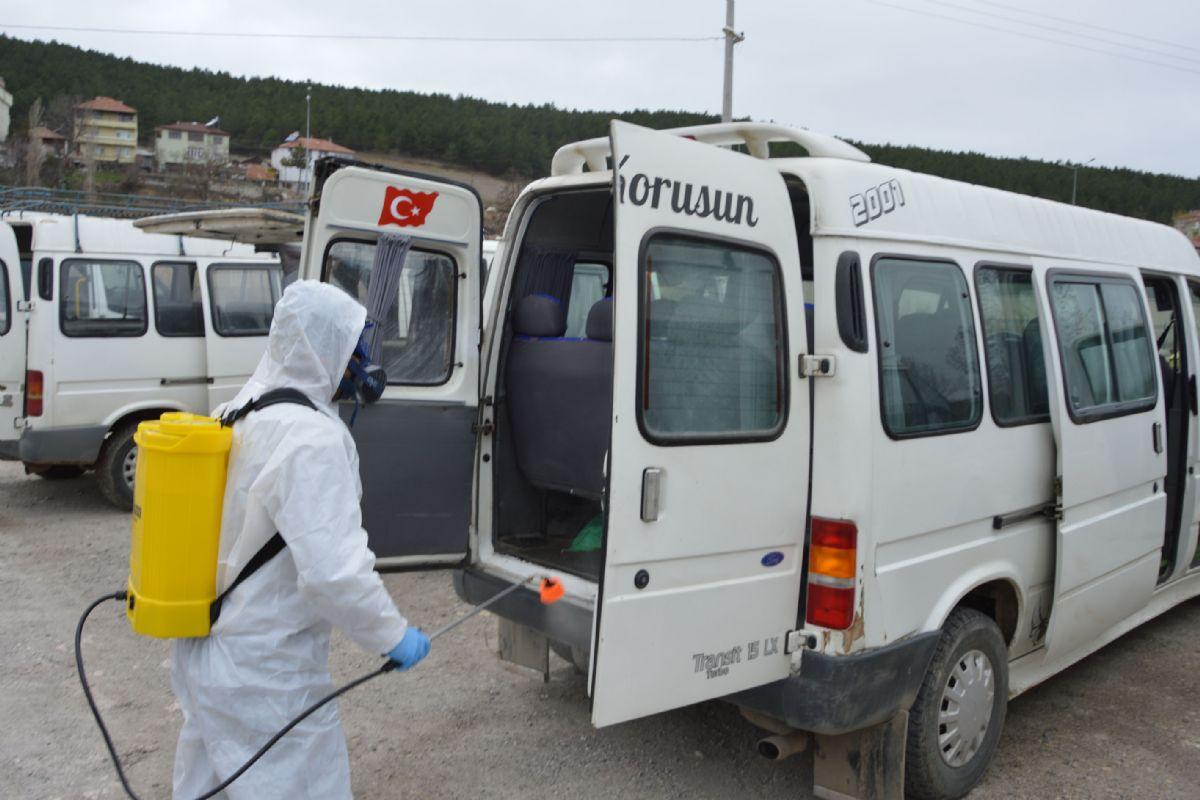 Havza'da Toplu Taşıma Araçlarında Dezenfeksiyon Yapılıyor