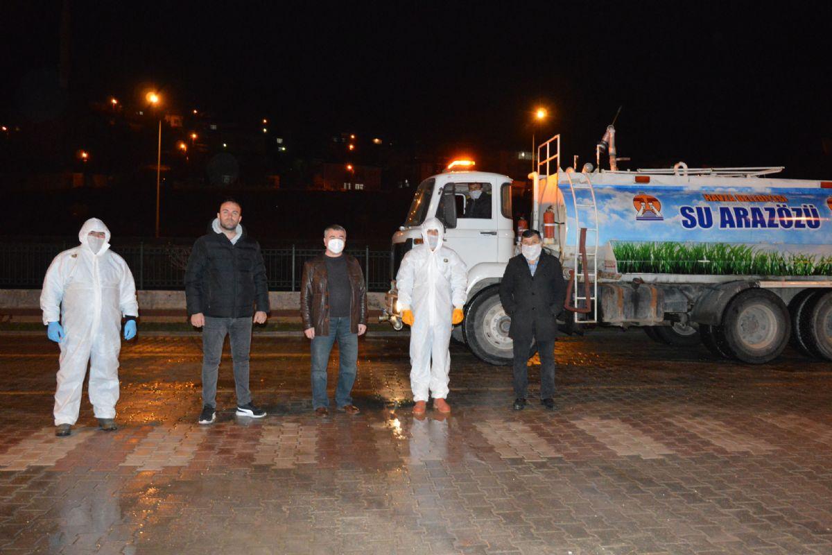 Havza'da Sokak Sokak Dezenfeksiyon Yapılıyor