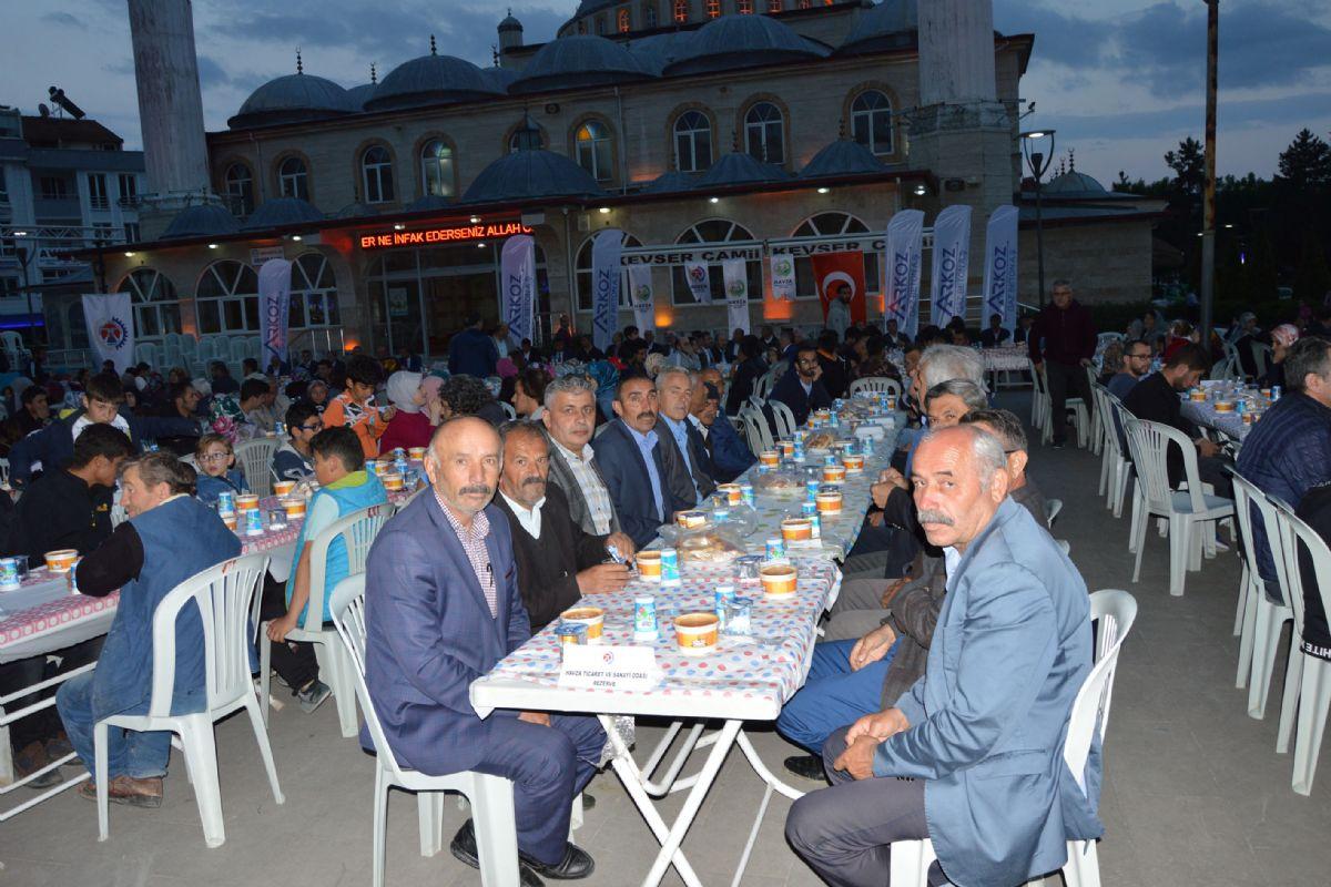 Havza Belediyesi, TSO, OSB Yönetimi ve Havza OSB Yatırımcı firmalarından Arkoz Gaz Beton işbirliği ile toplu iftar yemeği düzenlendi.