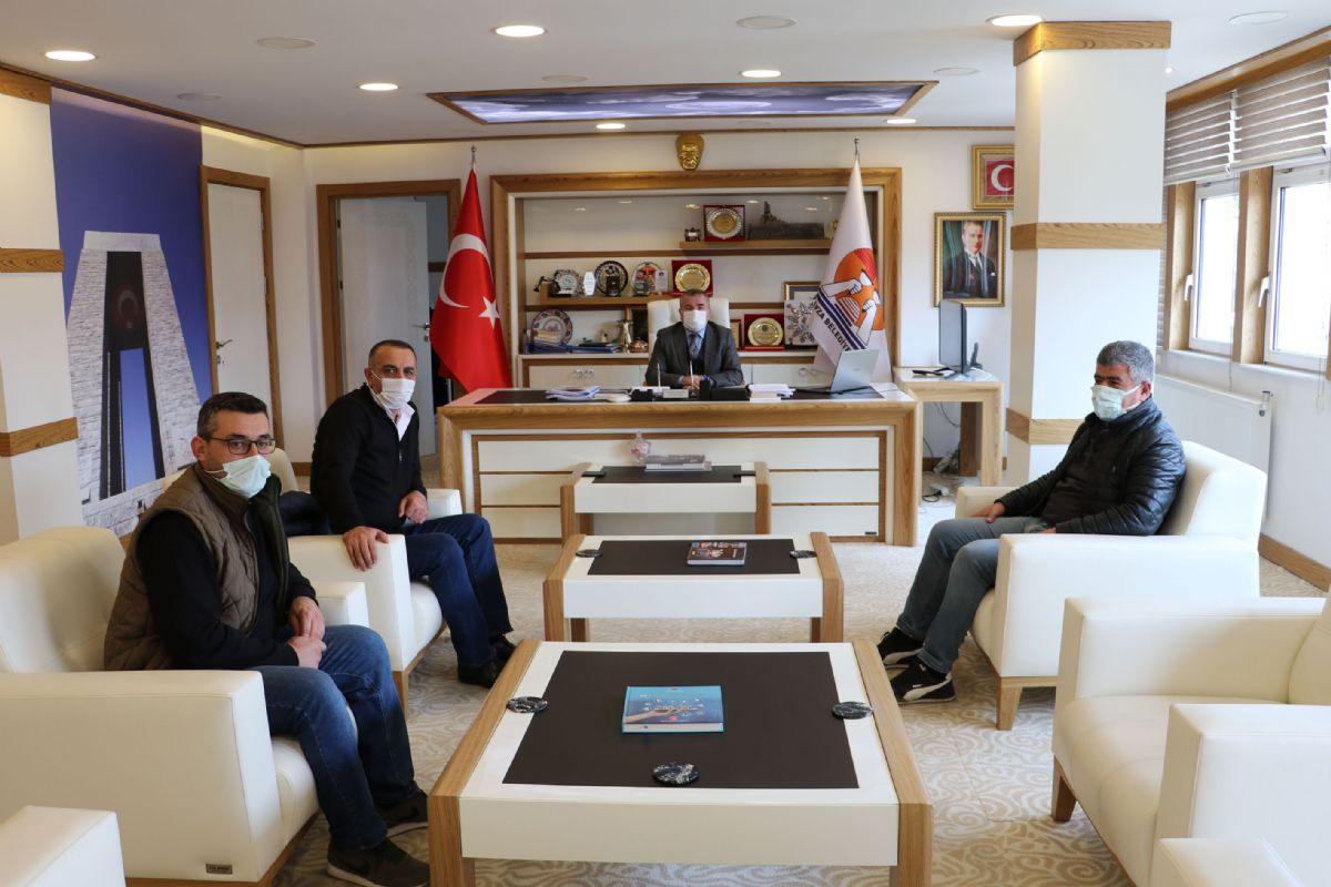 Yatırımcı İş İnsanlarından Havza Belediye Başkanı Özdemir'e Ziyaret