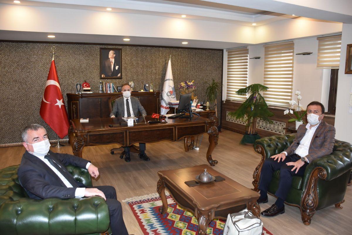 Havza Belediye Başkanı Özdemir'den Samsun Mem'e Ziyaret