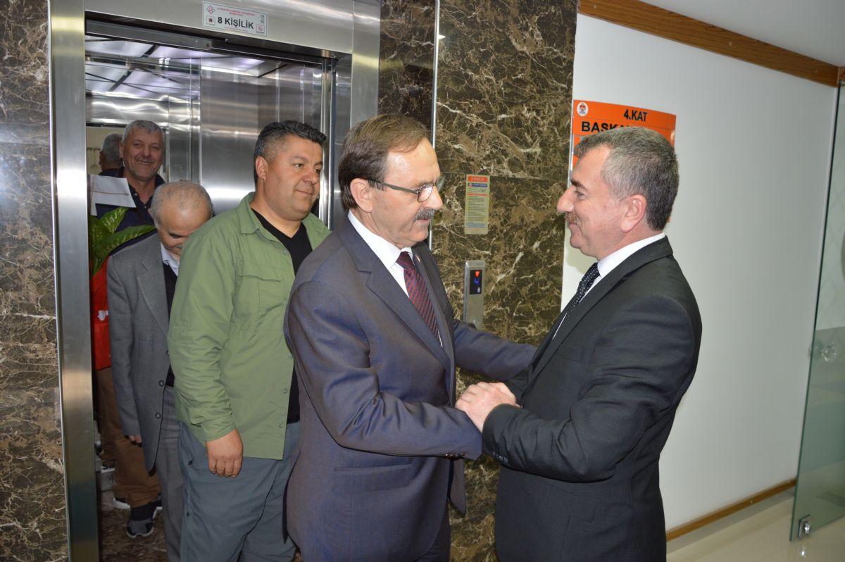 Zihni Şahin'den Özdemir'e Ziyaret