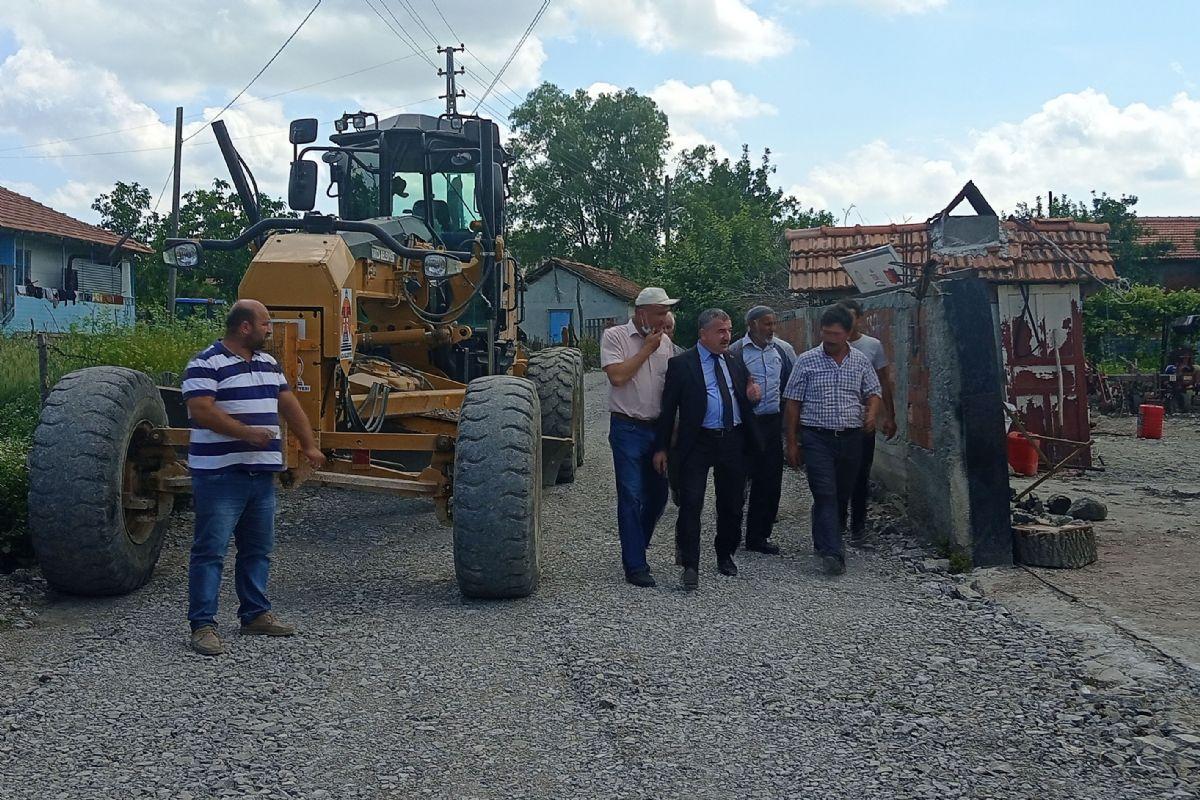 Havza Belediye Başkanı Özdemir Yol Çalışmalarını İnceledi