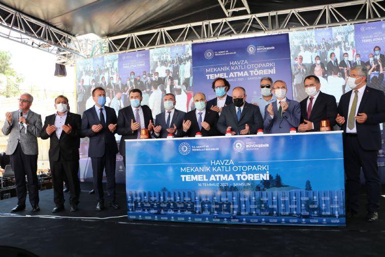 Havza Mekanik Otopark Temeli Sanayi ve Teknoloji Bakanı Varank Tarafından Atıldı