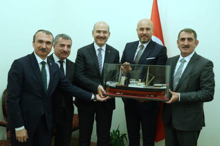 Başkan Özdemir'den Bakan Soylu'ya Ziyaret