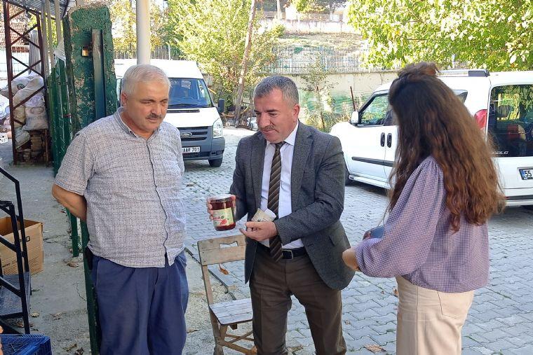 Havza Belediye Başkanı Özdemir'den İşyeri Ziyareti