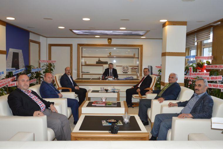 Havza Milli Eğitim Müdürü Sağlam, Havza Belediye Başkanı Sebahattin Özdemir'i Ziyaret Etti.