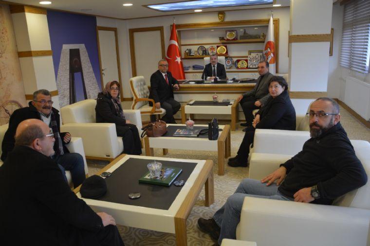 Chp İlçe Yönetiminden Başkan Özdemir'e Ziyaret