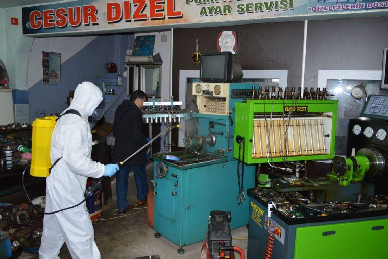 Havza'da Sanayi Sitelerinde Dezenfeksiyon