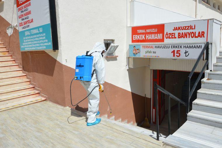Havza Belediyesi Kaplıcaları Dezenfekte Etti