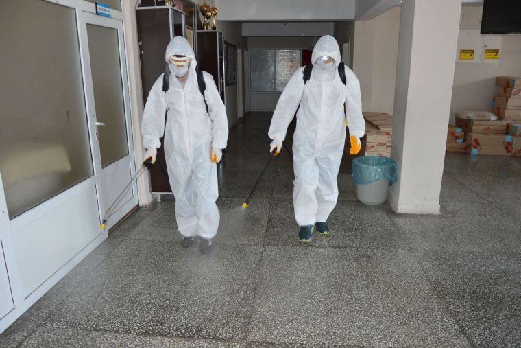 Havza Belediyesi Okullarda Dezenfeksiyon Yaptı
