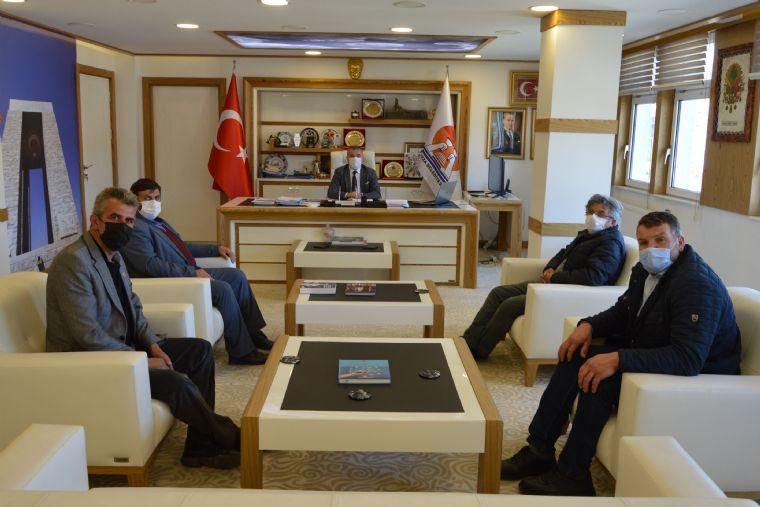 Havza Belediye Başkanı Özdemir'e Muhtarlardan Ziyaret