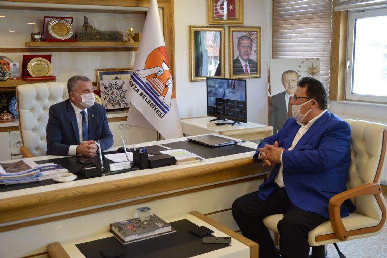 Samkon Genel Başkanı Aşçı ve Yönetiminden Havza Belediye Başkanı Sebahattin Özdemir'e Ziyaret