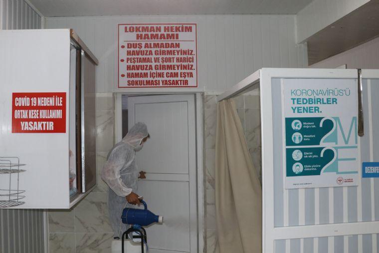 Havza'da Kaplıcalar Dezenfekte Edildi
