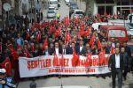 """Havza'da """" Şehitlerimize Saygı Yürüyüşü ve Mitingi """" Düzenlendi"""