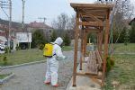 Havza Belediyesi Koronavirüse Karşı Dezenfekte Çalışmalarına Başladı