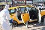 Havza Belediyesi Taksi, Minibüs ve Yolcu Duraklarını Dezenfekte Etti