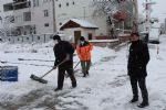 Havza'da Kar ile Mücadele Başladı