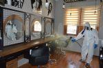 Havza Belediyesi Kuaför, Berber ve Güzellik Salonları Dezenfekte Etti