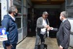 Başkan Özdemir Sanayi Esnafına Yerli ve Milli Borel ile Maske Dağıttı