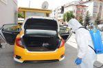 Havza'da Taksi Durakları ve Taksiler Dezenfekte Edildi