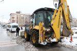 Havza Belediyesinde 24 Saat Kar Mesaisi
